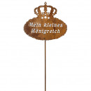 Metall Stecker 'Königreich', Höhe 175cm, 1 Stab, z